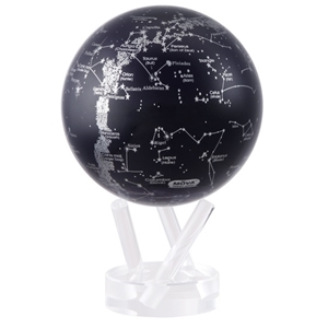 Silver Constellations on Black MOVA® Globe