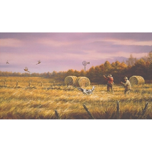 Golden Days - Upland Bird Hunting by artist Paco Young