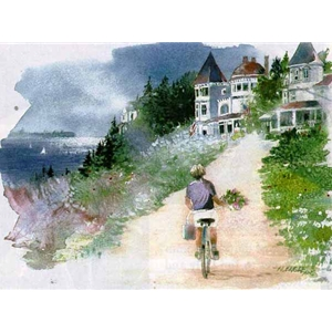 Afternoon Visitor (Mackinac Island) by Nita Engle