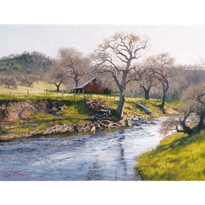 Early Spring at Stony Creek by rural artist June Carey