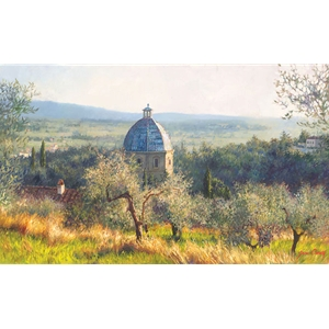 Cortona November - Church by June Carey