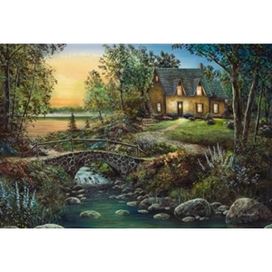 Stonybrook Cottage - summer on the lake by Americana artist Jim Hansel