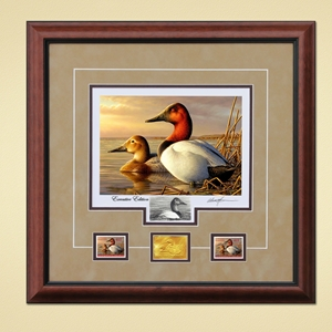 2014 2015 Federal Duck Print EXECUTIVE EDITION - Canvasback Pair by Adam Grimm