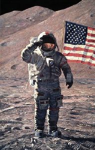 A Fire to be Lighted by astronaut artist Alan Bean