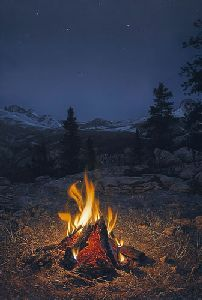 A Mountain Campfire by Stephen Lyman