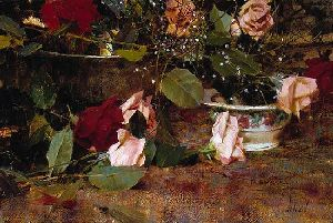 A Gift of Roses by artist Richard Schmid