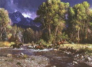 Before the River Rises by western artist Martin Grelle
