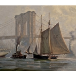 Working Through a Fog, East River, NYC by Don Demers