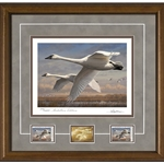 2016- 2017 Federal Duck Print MEDALLION EDITION - Trumpeter Swans by Joe Hautman
