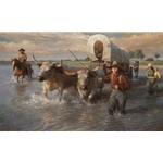 Crossing the Cheyenne River, Summer, 1850 by Morgan Weistling