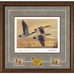 2017-2018 Federal Duck Stamp Print MEDALLION EDITION - Geese at Sunset by James Hautman