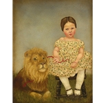 Serena and Her Lion by artist Emily McPhie