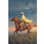 Here Comes the Rain by cowboy artist Jack Terry