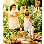 Growing Season - Children in Garden by artist Jean Monti