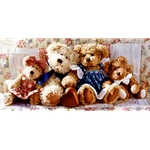 Togetherness - Teddy Bear Family by artist Jean Monti