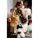 Puppy Love - Girl, teddy with dog by figurative artist Jean Monti
