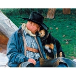 A Dog and His Cowboy by artist Fred Fields