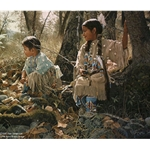 Indian Summer Play - Native American Children by artist Ray Swanson