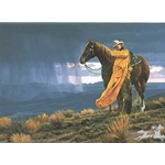 A Storm Across the Valley by cowboy artist Tim Cox