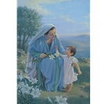 Blessed Among Wome - Mary with boy Jesus by artist Kathy Lawrence