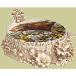 Bugged Bear Porcelain Box by camouflage artist Bev Doolittle