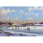Bay Skaters by New England artist Paul Landry