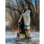 She Waits - Native American Indian woman by western artist Martin Grelle