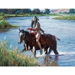 Crossing the Greasy Grass by western artist Martin Grelle