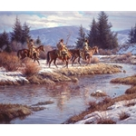 Blackfeet at Blacktail Ponds by western artist Martin Grelle