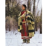 With Wonder She Waits (Indian woman) by western artist Martin Grelle