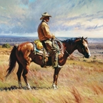 An American Icon - working cowboy by western artist Martin Grelle
