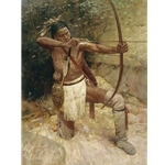 Woodland Warrior - Indian warrior by artist Z. S. Liang