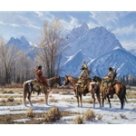 Eagle Prayer - Apsaalooke hunters in the Tetons by western artist Martin Grelle