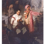 The Calico Dress, Family Laundry, 1906 by historical artist Mian Situ