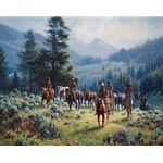 Monarchs of the North by western artist Martin Grelle