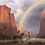Bridge to the Spirit World - Rainbow over Canyon de Chelly, Arizona by artist Mian Situ
