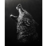 Desperation - wolf howling by wildlife artist Cristina Penescu