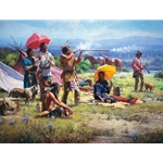 Parasols & Black Powder - changing culture by western artist Martin Grelle