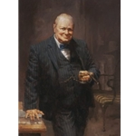 Churchill - portrait of Prime Minister Sir Winston Churchill by artist Andy Thomas
