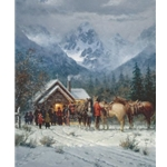 Chapel in the Tetons by artist G Harvey