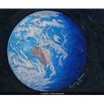 A Jewel in the Heavens - earth from space by artist Alan Bean