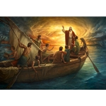From Fear to Faith - Christ Stills the waters by Howard Lyon