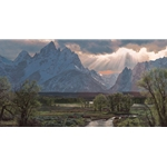 Buffalo Crossing - Teton mountains and valley by Phillip Philbeck