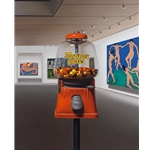 Try Some - Matisse's Pieces gumball machine in gallery by artist Ben Steele