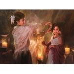 Evening Glow - mother and daughter by JoAnn Peralta