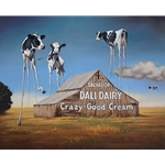 Dali Dairy - long legged cows by Pop Art artist Ben Steele