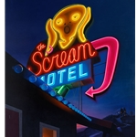 Scream Motel neon light by Ben Steele