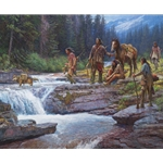 Passage at Falling Waters - crossing the river by Martin Grelle