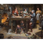 ~ Family Traditions - busy kitchen by Morgan Weistling