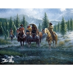 Leavin' Line Camp by cowboy artist Jack Terry